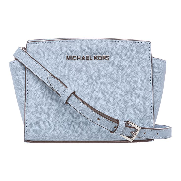 Shop for MICHAEL Michael Kors \u0026#39;Selma\u0026#39; Mini Powder Blue Saffiano Leather Crossbody Bag. Get free delivery at - Your Online Designer Store Shop!