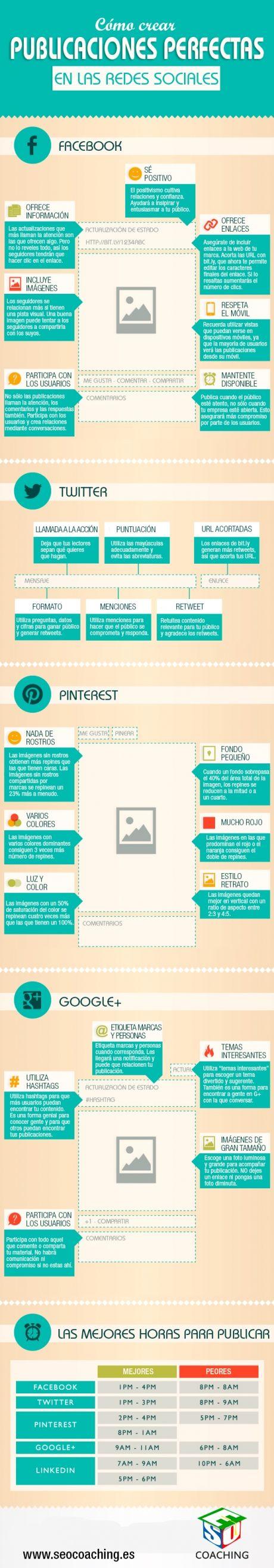 Cómo crear #publicaciones perfecta en las #redessociales.