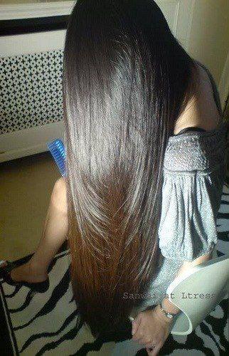 Густые волосы Брюнетка Блестящие волосы