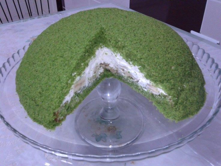 yeşil kubbeli pasta