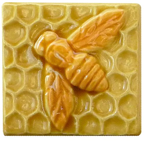 Ceramic Art Bee Tiles 3 Inches By In A Large Selection Of Glaze Colors Sculpted