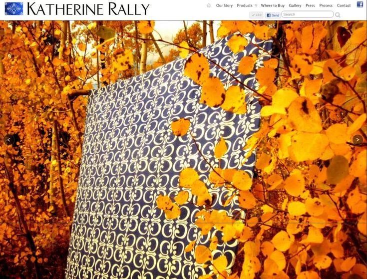 Gaia Design Portfolio - Katherine Rally Textiles website