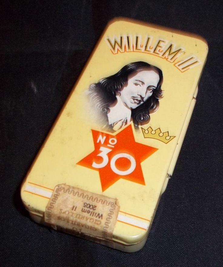 Vintage blikken doos Willem II boite en tôle tin box cigars cigares sigaren | eBay