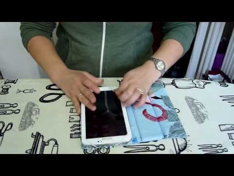 ▶ How to make a tablet cover - YouTube
