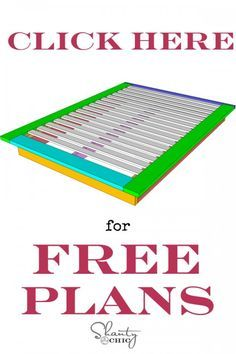 click-for-free-platform-bed-plans. This is for shanty chics bed - best instructions !!