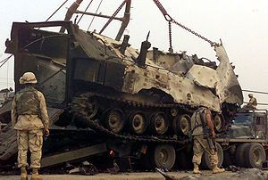 The Battle of Nasiriyah took place from March 23, 2003 to March 29, 2003, and was one of the first major battles of the 2003 invasion of Iraq.