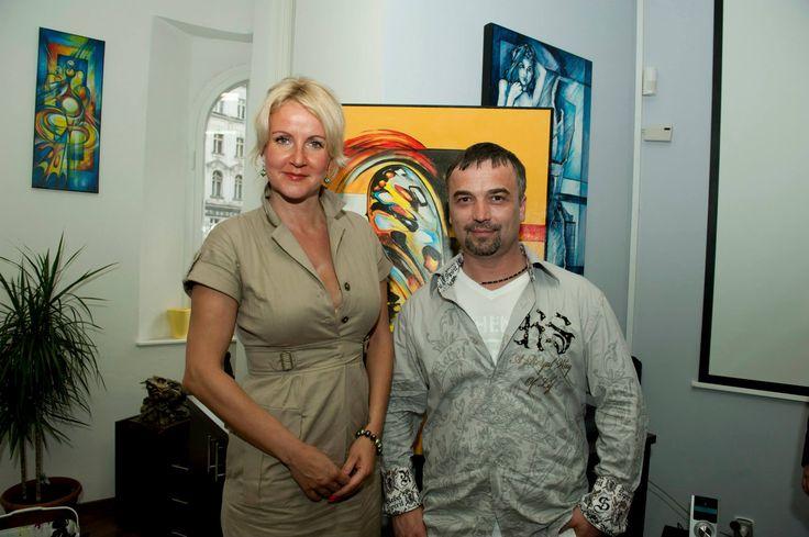 Joe Muczka Jr. a Vendula Svobodová, prezidentka Kapka naděje