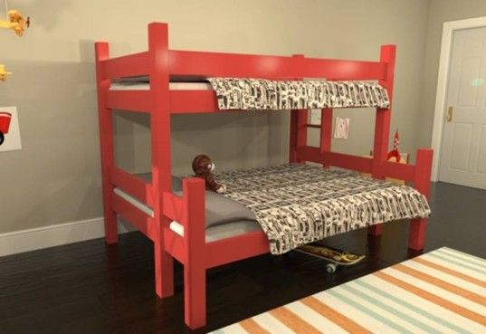 Free Plans Build Twin Over Full Bunk Bed Woodworking