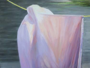 "Saatchi Art Artist Wojtek Herman; Painting, ""Drying laundry II"" #art"