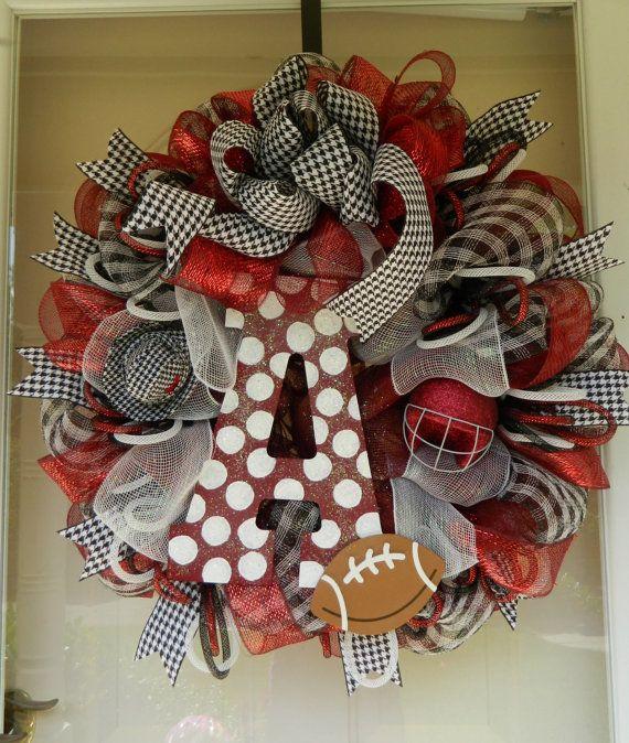 Deco mesh wreath Alabama wreath sports wreath by SouthernGalMotifs, $78.00