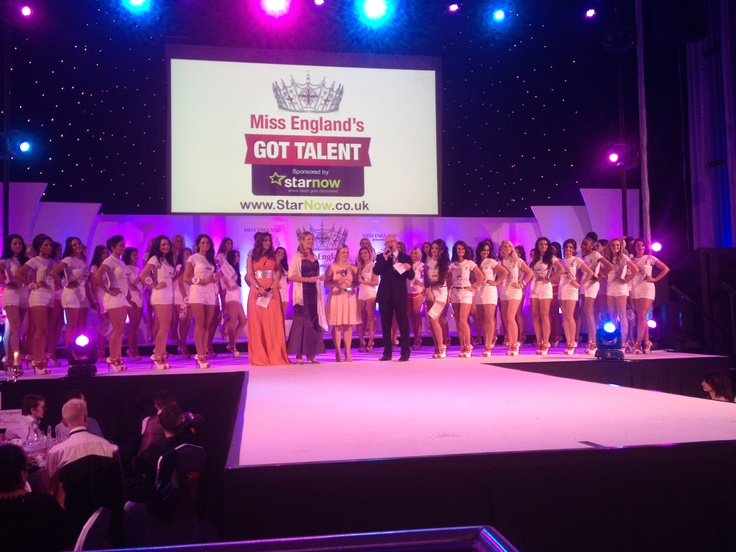 StarNow presenting the Miss England's Got Talent award to Lena Walker at Miss England 2012.
