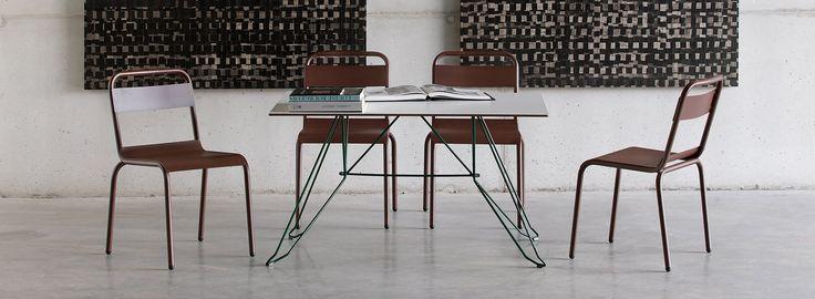 MØBLA   Stuhl Biarritz von ISIMAR für den Innen- und Außenbereich. Garten-Stuhl, Esszimmer-Stuhl. Stapelbar. In 28 Farb-Varianten.