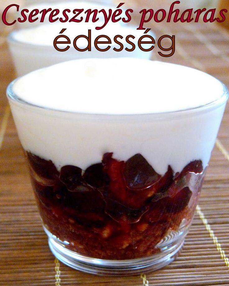 Hozzávalók: egy csipetnyi szeretet: Cseresznyés poharas desszert és Fekete-erdő fagylalt