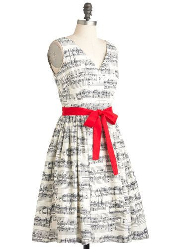 Ok, maybe I'm just the world's biggest music nerd, but I love this! Modcloth 'In the Key of Chic' dress.