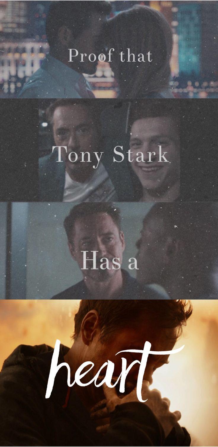 W1nter Soldier Proof That Tony Stark Has A Heart Tony Stark Marvel Superheroes Marvel