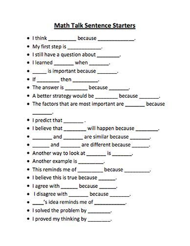 good sentence stems for end of class - Google Search