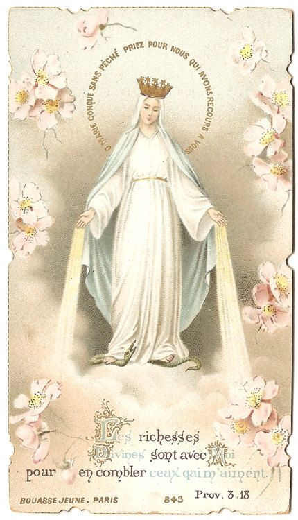 Virgin Mary in Crown Graces Antique Vintage by 12StarsVintage