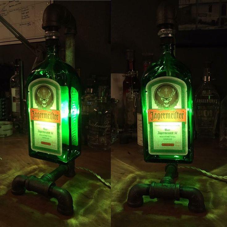 Jagermeister Bottle Pipe Lamp $133.00