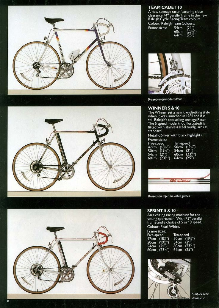 Top one, Team Cadet was my first decent bike. My cousin borrowed it to do a charity ride, I've seen neither since. That was about 1992.