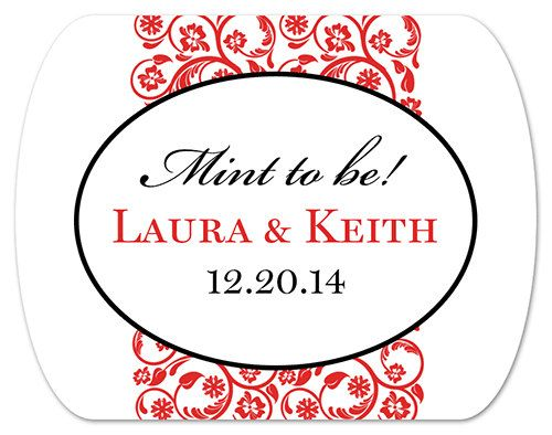 Personalized wedding favor stickers mint to by modernzebradesign