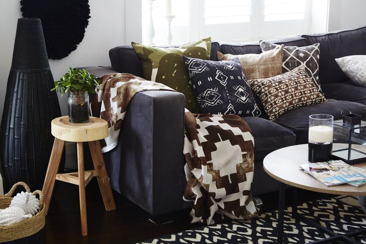 Grace Garrett featuring cushions from the Urban Aztec Collection