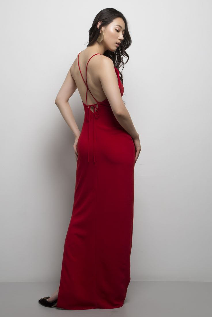 Maria Gown. Available in royal blue, black, cream, lunar rock, blush and red.