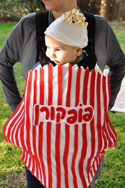 popcorn baby  DIY costume @ The Crafeteria