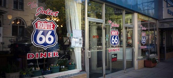 The Joliet Route 66 Diner is an adorable throwback to mom and pop diners just a few steps away from the original Route 66.