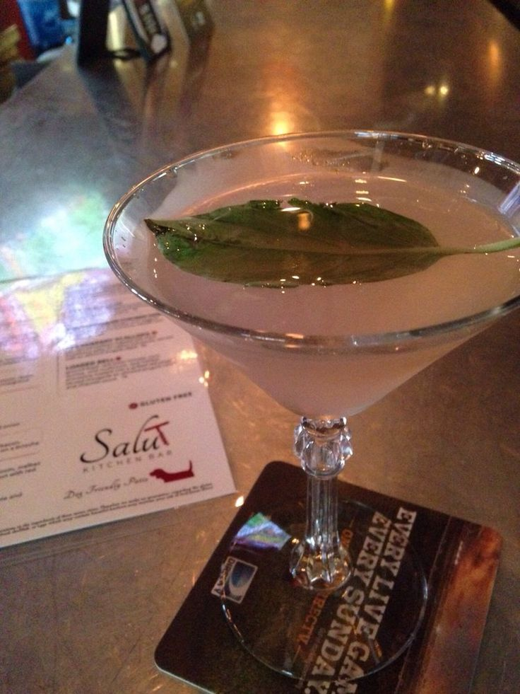 Salut Kitchen Bar - Tempe, AZ, United States. Grapefruit basil martini... Yum!