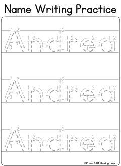 Custom name tracing worksheets