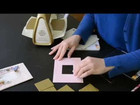 Anna Griffin Cuttlebug Mix and Match Folders How To cut out the middle/window #Cuttlebug #AnnaGriffin