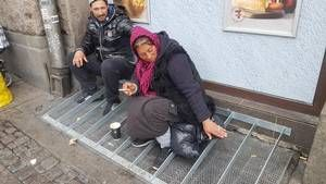 """7-11 in Denmark has bought this new invention called """"Anti-Roma-Bench"""" aimed at the many beggers who have arrived from the eastern part of Europe. They are not exacly Romas but ordinary citizens from a number of countries."""
