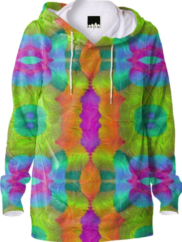 Hoodie in colorful  symphoni from Print All Over Me