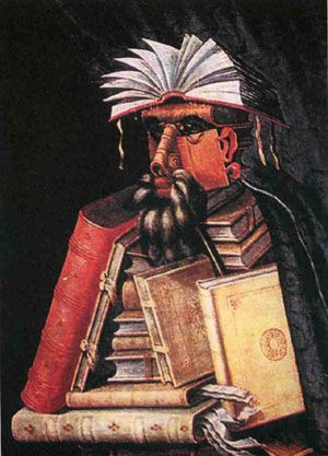 Джузеппе Арчимбольдо  библиотекарь. 1570 год.