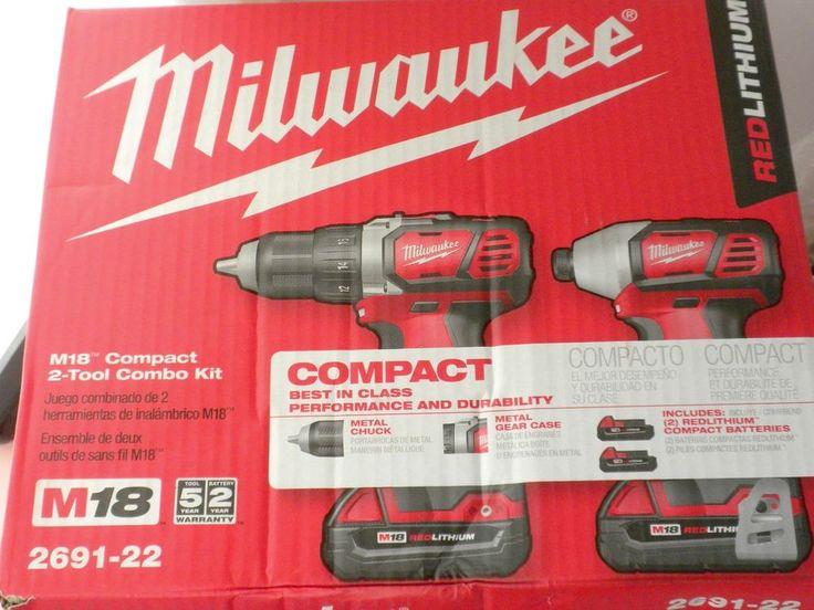 Milwaukee 2691-22 M18 Compact 2 Tool Combo Kit. 18V Cordless Drill and Impact Driver Combo. | eBay!
