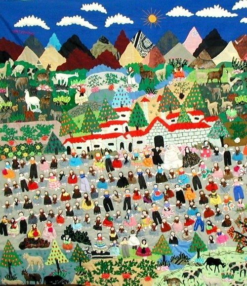 Arpilleras - Colorful 3-Dimensional Textiles from South America