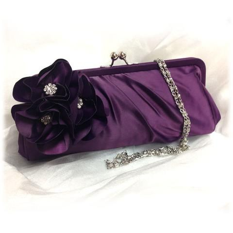 Wedding clutch, Bridesmaid clutch, Purple clutch, evening bag, Bridesmaid bag, crystal clutch, flower bag - Glam Duchess - 1 http://glamduchess.com/collections/bridal-clutches?page=2