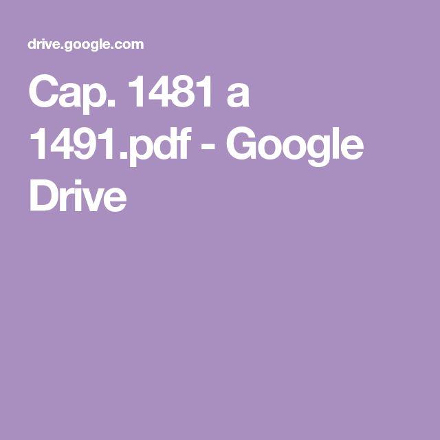 Cap. 1481 a 1491.pdf - Google Drive | Libros de comedia ...