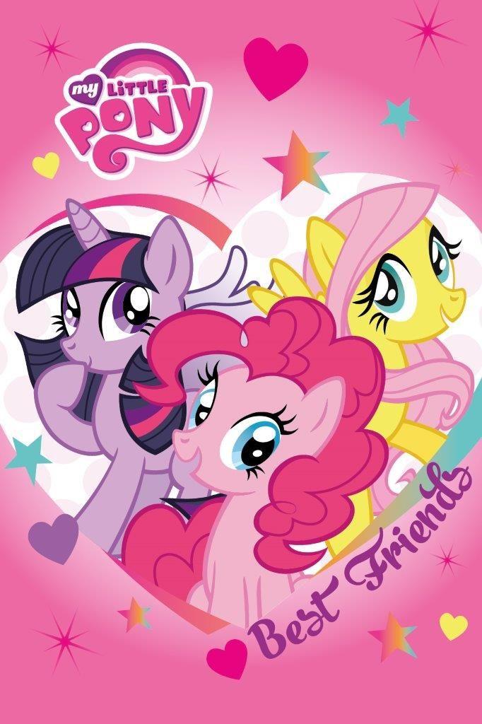 Najlepsi przyjaciele My Little Pony różowe ręczniki dziecięce
