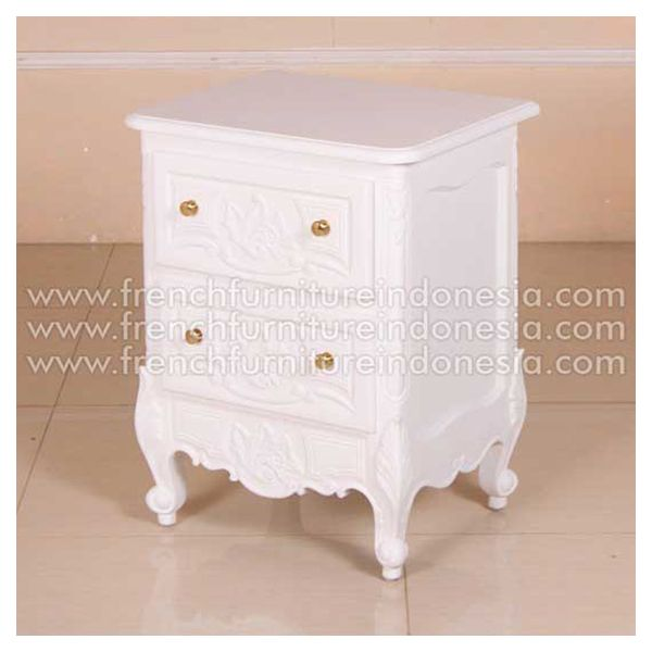 Buy Marching Cheteau Bedside 2 Drawer from Classic Furniture. We are reproduction Furniture manufacture with French style good quality and classic furniture style. #WhiteFurniture #ReproductionFurniture #ExporterFurniture #FrenchFurniture #JeparaFurniture