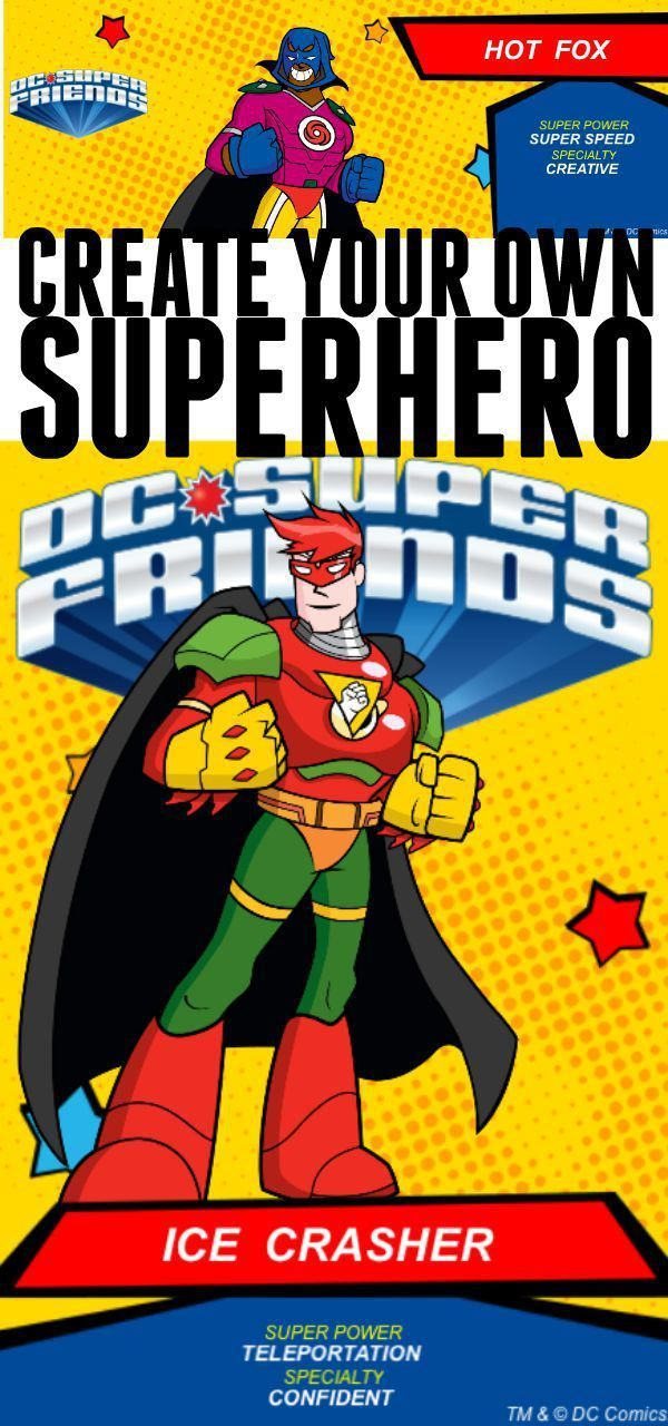 Create your own superhero activity for kids. Free online game