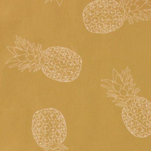 Voksdug karry gul m ananas - STOFF & STIL