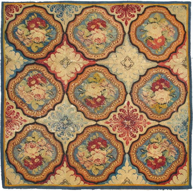 Antique English Needlepoint | From a unique collection of antique and modern western european rugs at https://www.1stdibs.com/furniture/rugs-carpets/western-european-rugs/