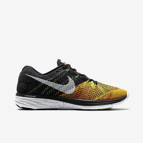 Nike Flyknit Lunar 3 Μαύρο/Πράσινο ελεκτρίκ/Πορτοκαλί μονόχρωμο Ανδρικά Παπούτσια για Τρέξιμο