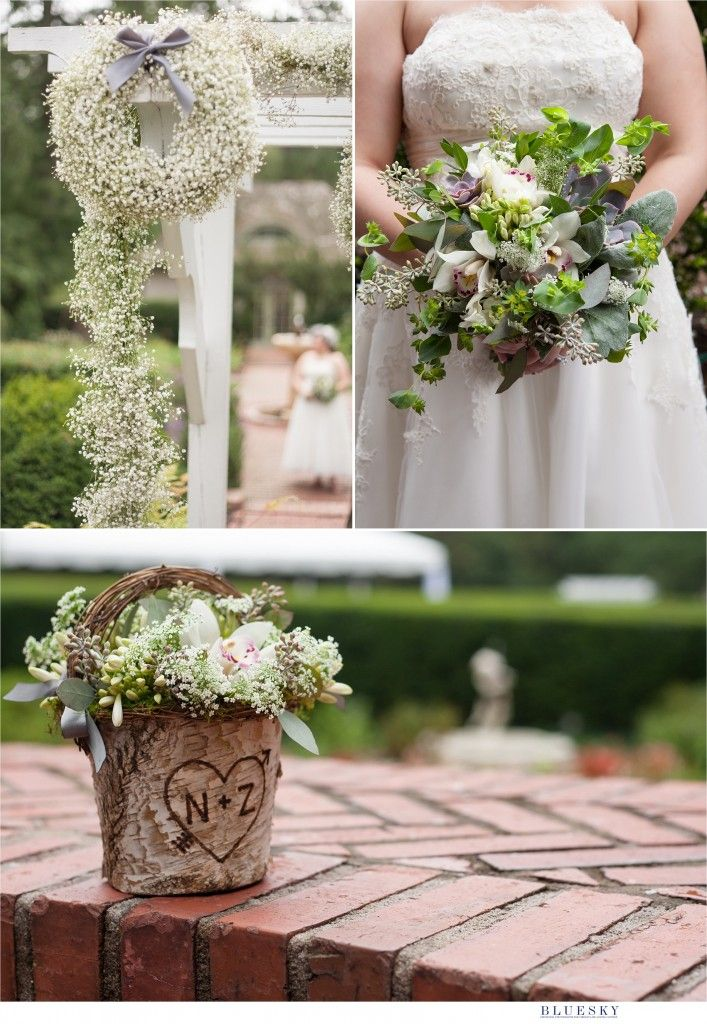 wedding flowers charlotte nc intimate outdoor garden wedding in nc at the 9558