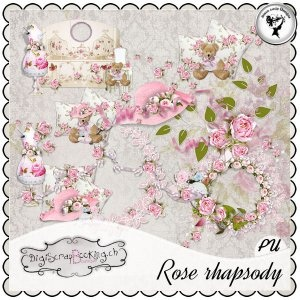 Rose rhapsody - Embellishments by Black Lady Designs