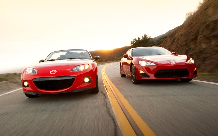 2013 Mazda MX-5 Miata Club vs. 2013 Scion FR-S - Motor Trend, (great read and review of two awesomely similar and simultaneously different cars)