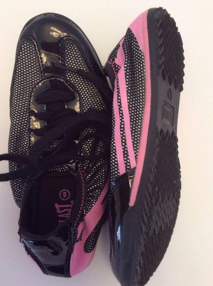 Everlast Sport Black & Pink Sneaker Women's Shoe Sz 6 Boxing Trainer Great Cond. #EverlastSport #Trainers