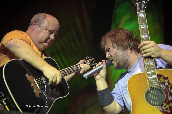 Jack Black and Kyle Gass as Tenacious D Rock A Ring