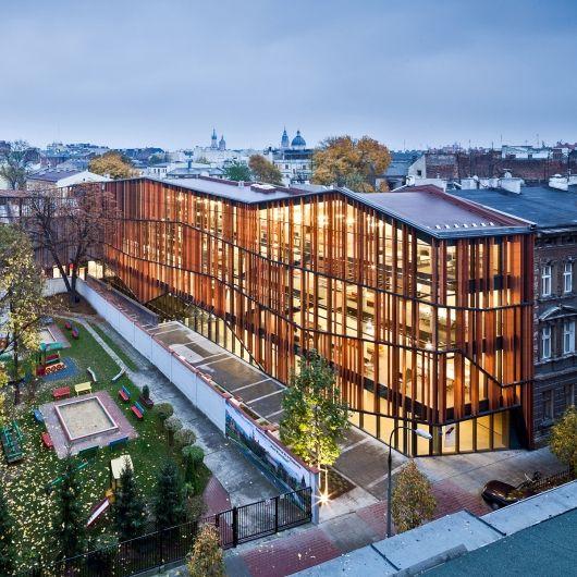 Malopolska Garden of Arts (MGA) Performing arts centre & mediatheque by Ingarden & Ewý Architects. Photo: Marcin Czechowicz / MURATOR ©, 2012